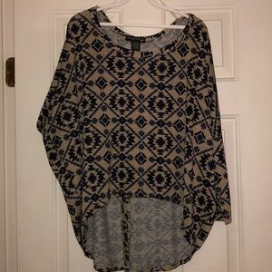 Patterned tunic.